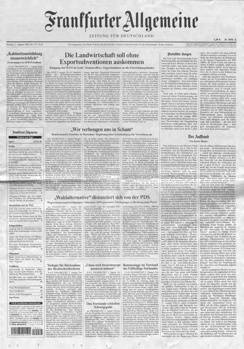 Frankfurter allgemeine zeitung kennenlernen
